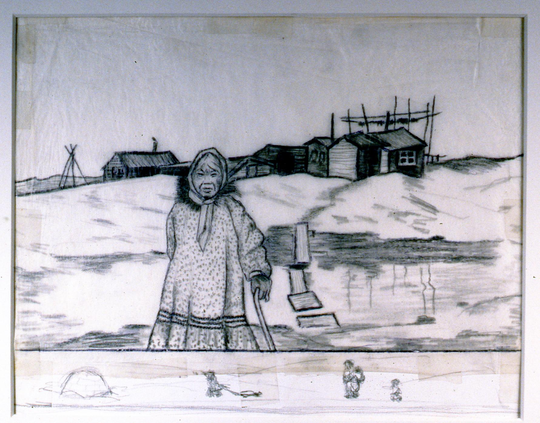 Spring Walk , 1986, Minn Sjølseth, sketch, 21.5 x 25.5 cm, 1996.02.23