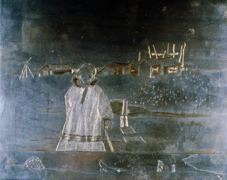 Spring Walk , 1986, Minn Sjølseth, zinc plate, 21.5 x 25.5 cm, 1996.02.22