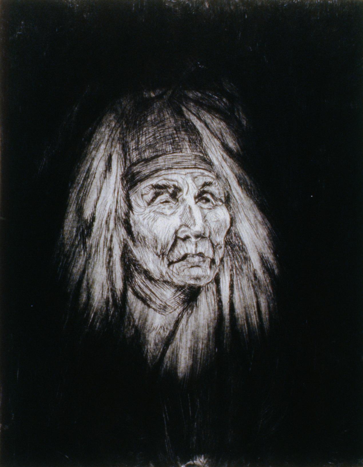 Shaman , 1980, Minn Sjølseth, artist proof, 25 x 20 cm, 1996.02.09