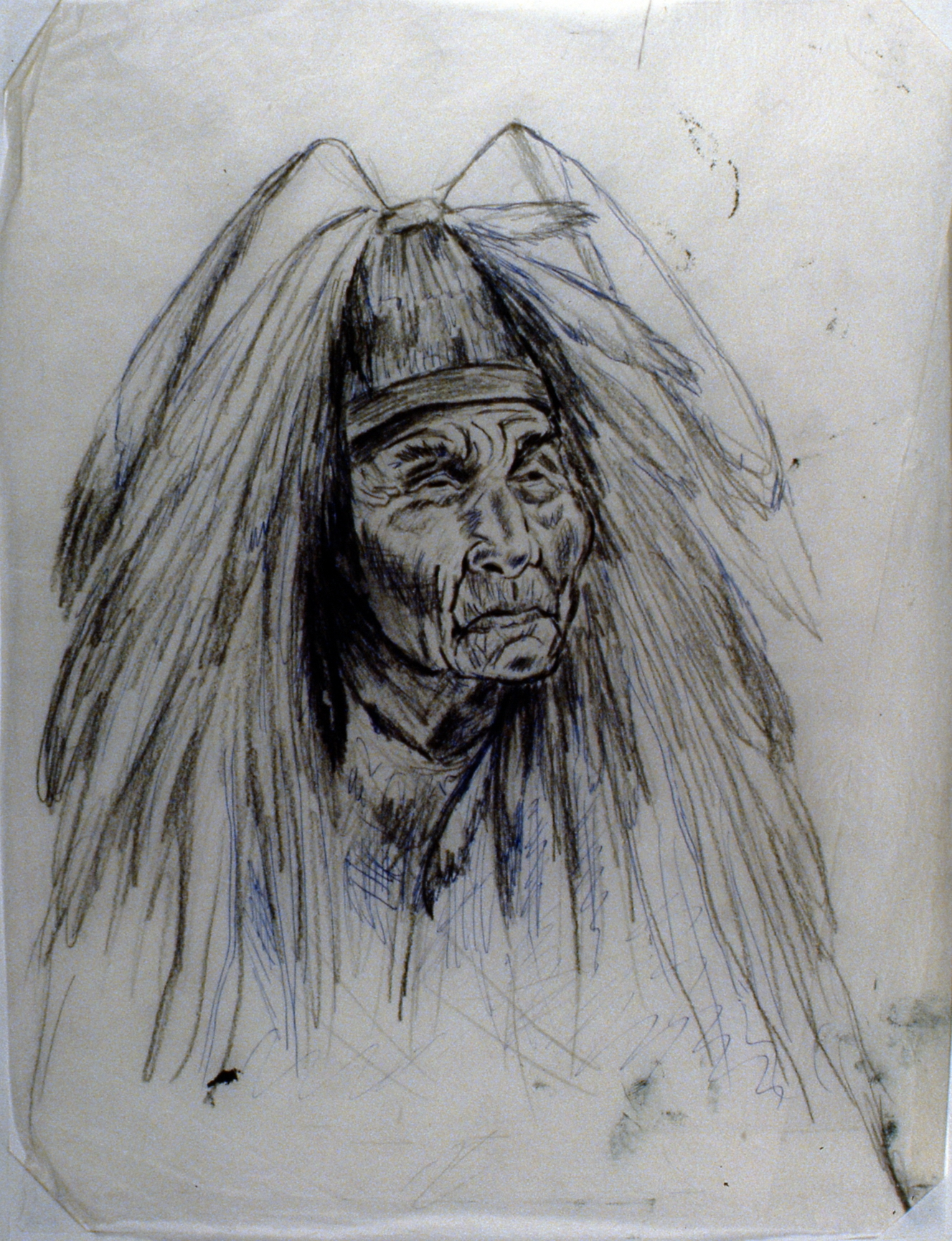 Shaman - August Jack , 1980, Minn Sjølseth, sketch, 25 x 20 cm, 1996.02.07
