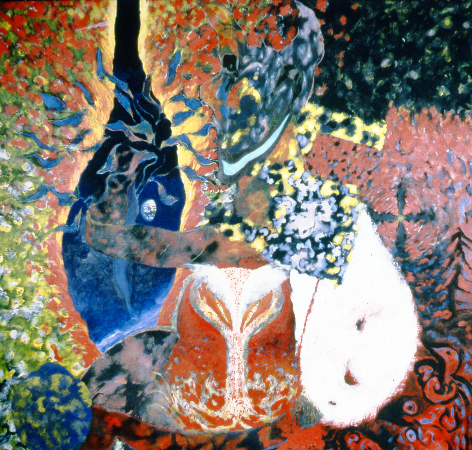 """Untitled (March 1986), 1986, Rients Van Goudoever, acrylic on canvas, 69"""" x 71"""", 1999.01.01, gift of the artist"""