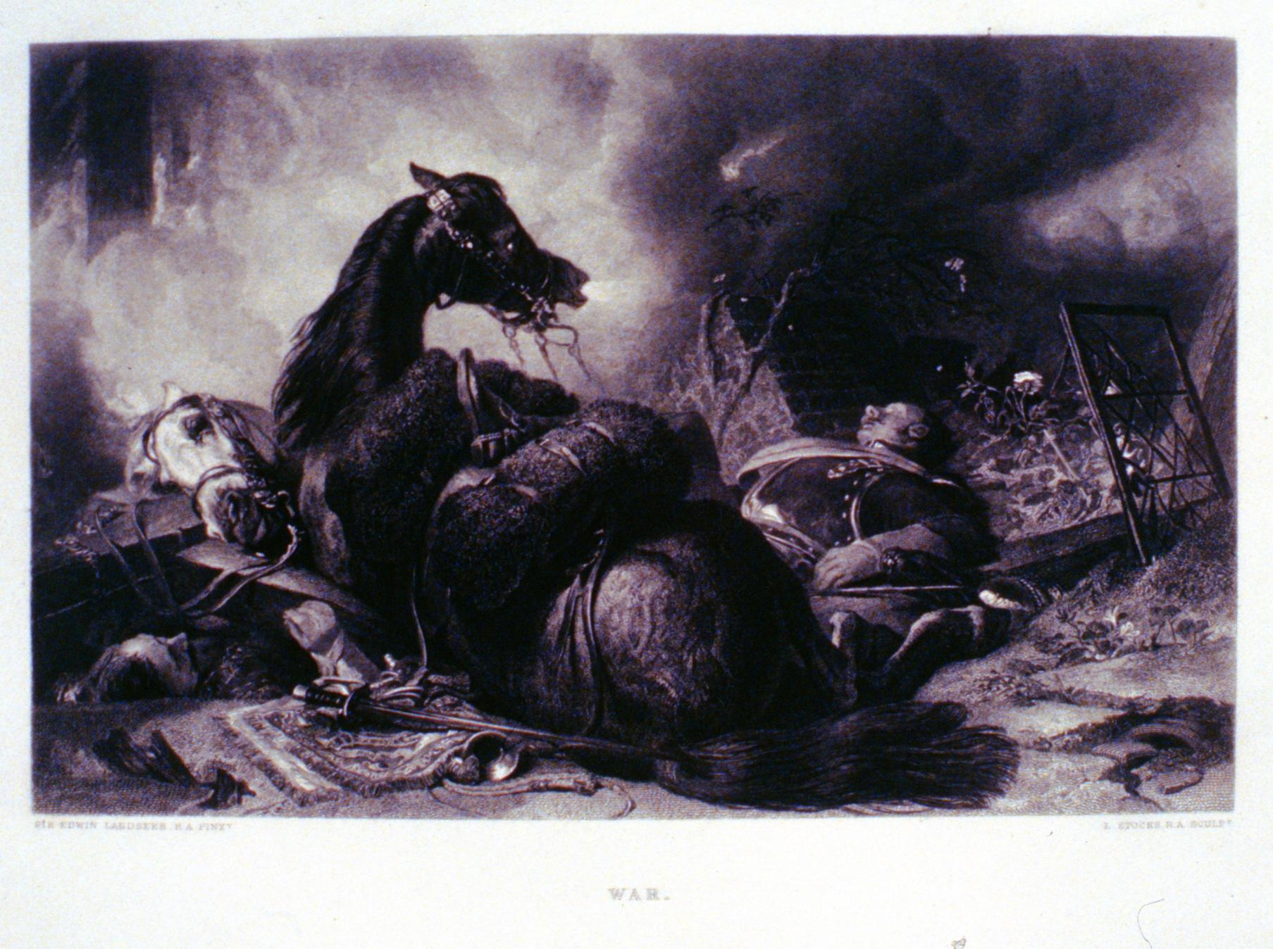 War , c. late 19th Century, L. Stocks, steel engraving, 16.5 cm x 25.6 cm, 1996.08.07, gift of Yvonne Adams