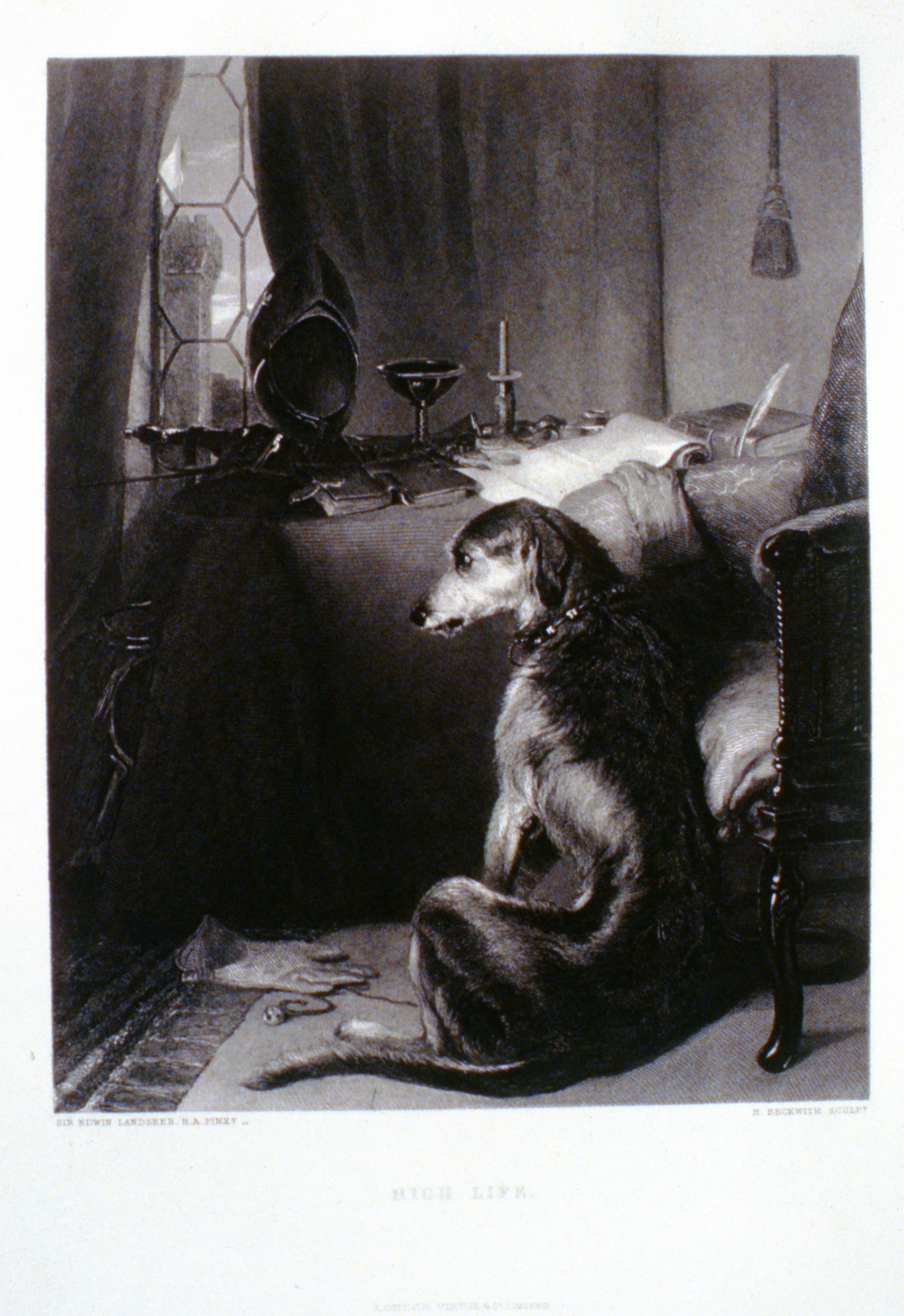 High Life , c. late 19th Century, H. Beckwith, steel engraving, 23.8 cm x 18.4 cm, 1996.08.11, gift of Yvonne Adams