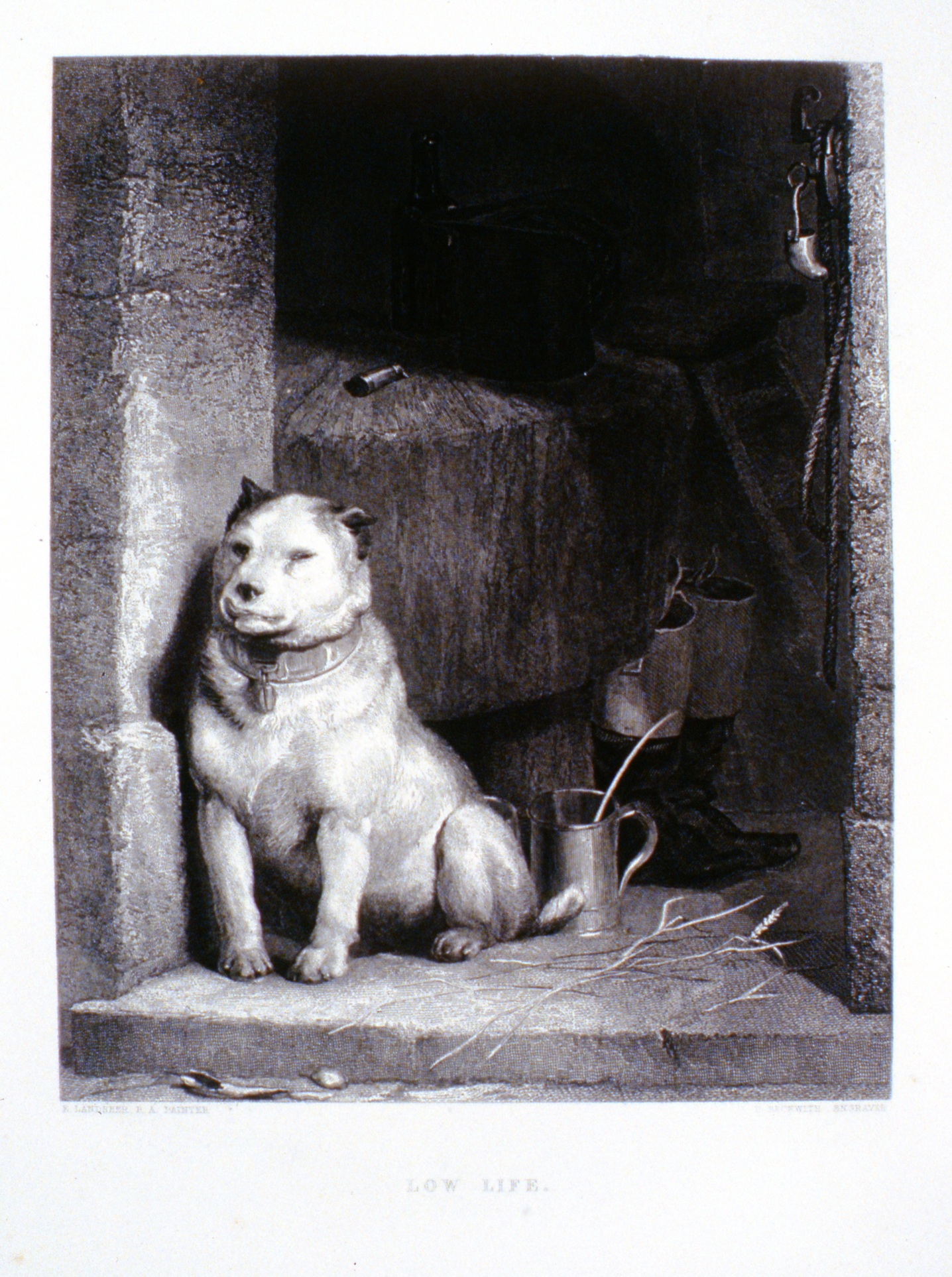 Low Life , c. late 19th Century, H. Beckwith, steel engraving, 23.6 cm x 18.7 cm, 1996.08.12, gift of Yvonne Adams