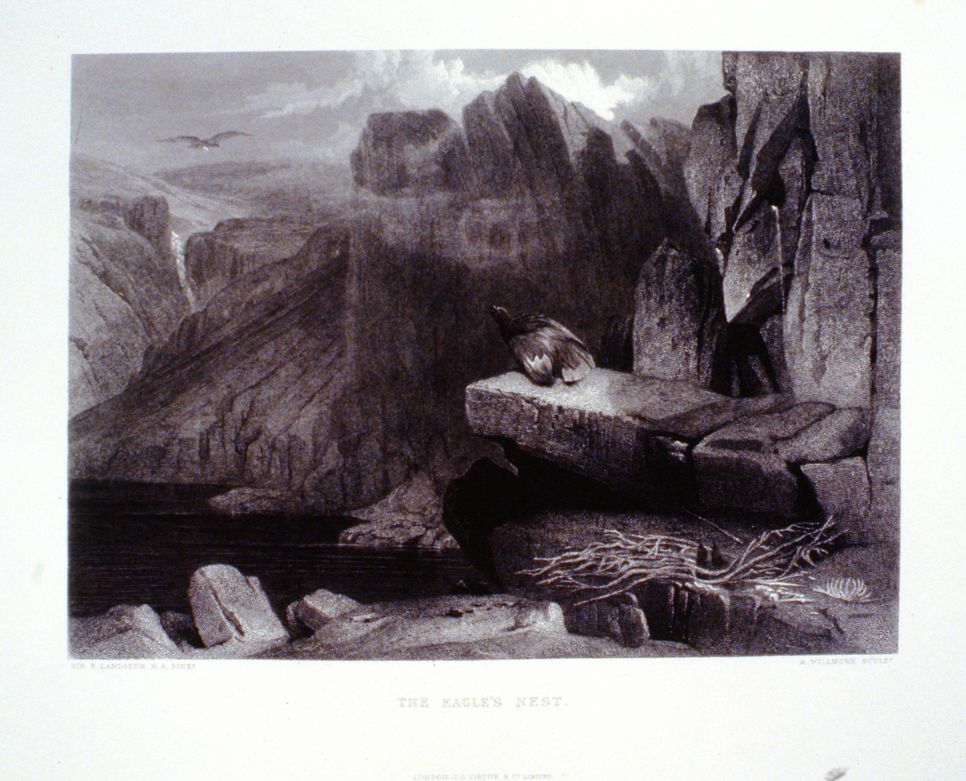 The Eagles Nest , c. late 19th Century, A. Willmore, steel engraving, 18.2 cm x 25 cm, 1996.08.18, gift of Yvonne Adams
