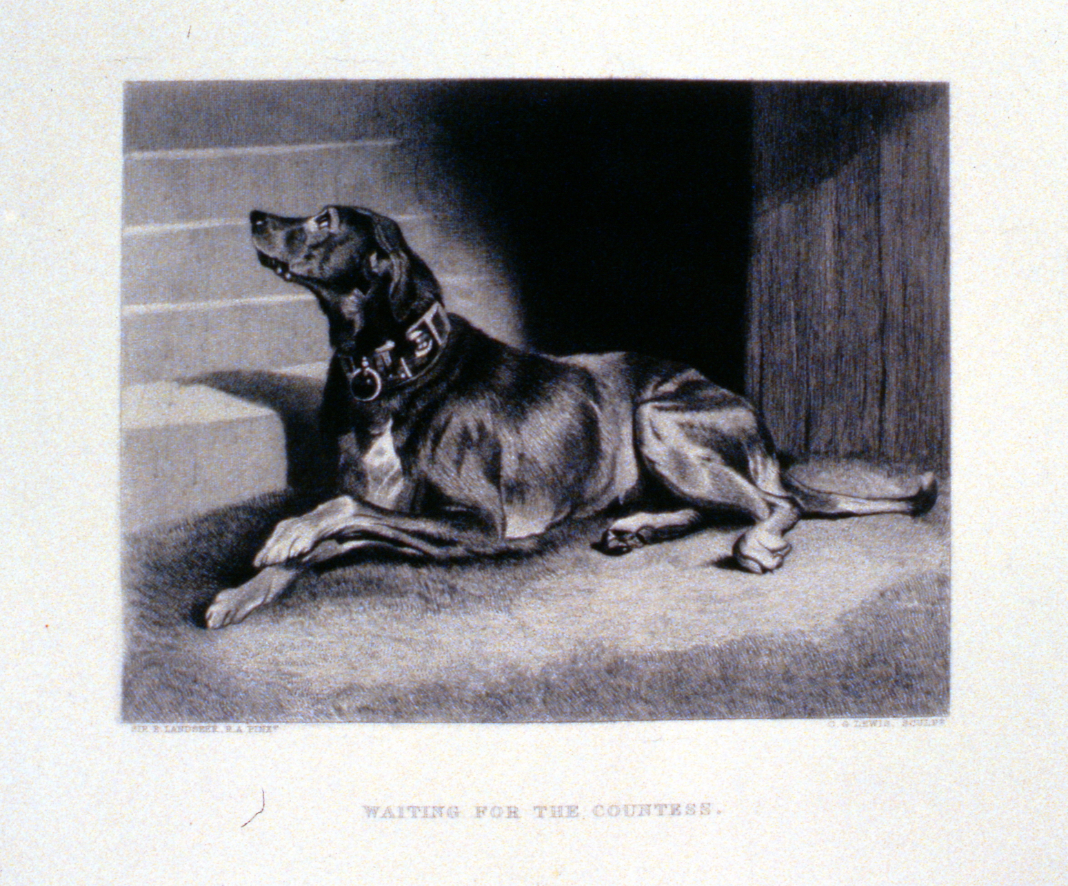 Waiting for the Countess , c. late 19th Century, Charles G. Lewis, steel engraving, 14 cm x 18.3 cm, 1996.08.24, gift of Yvonne Adams