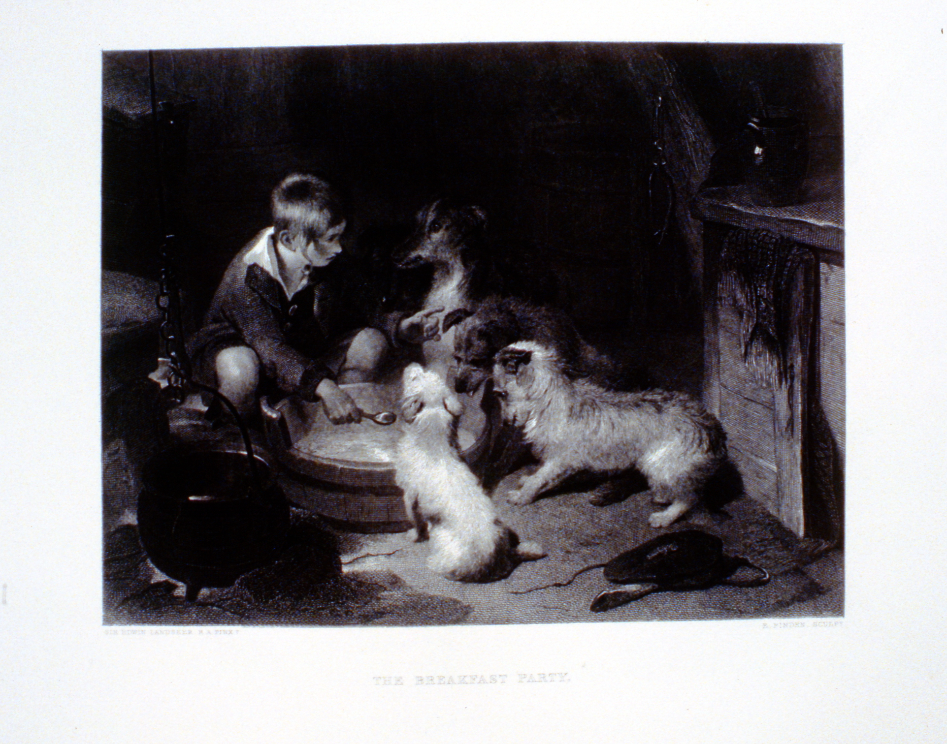 The Breakfast Party , c. late 19th Century, E. Finden, steel engraving, 17.7 cm x 23 cm, 1996.08.26, gift of Yvonne Adams
