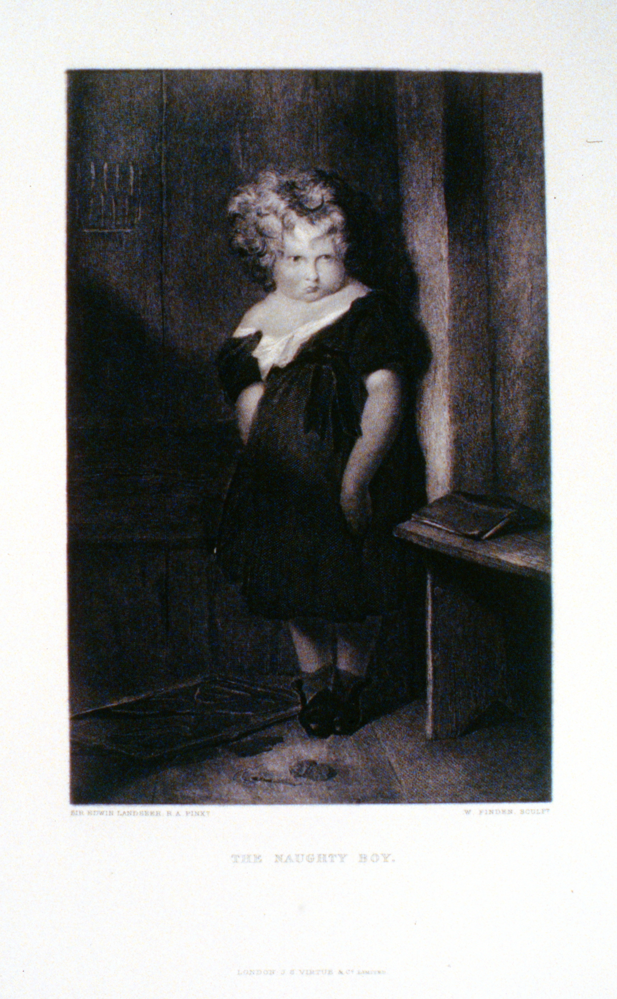 The Naughty Boy , c. late 19th Century, W. Finden, steel engraving, 22.5 cm x 14.7 cm, 1996.08.36, gift of Yvonne Adams