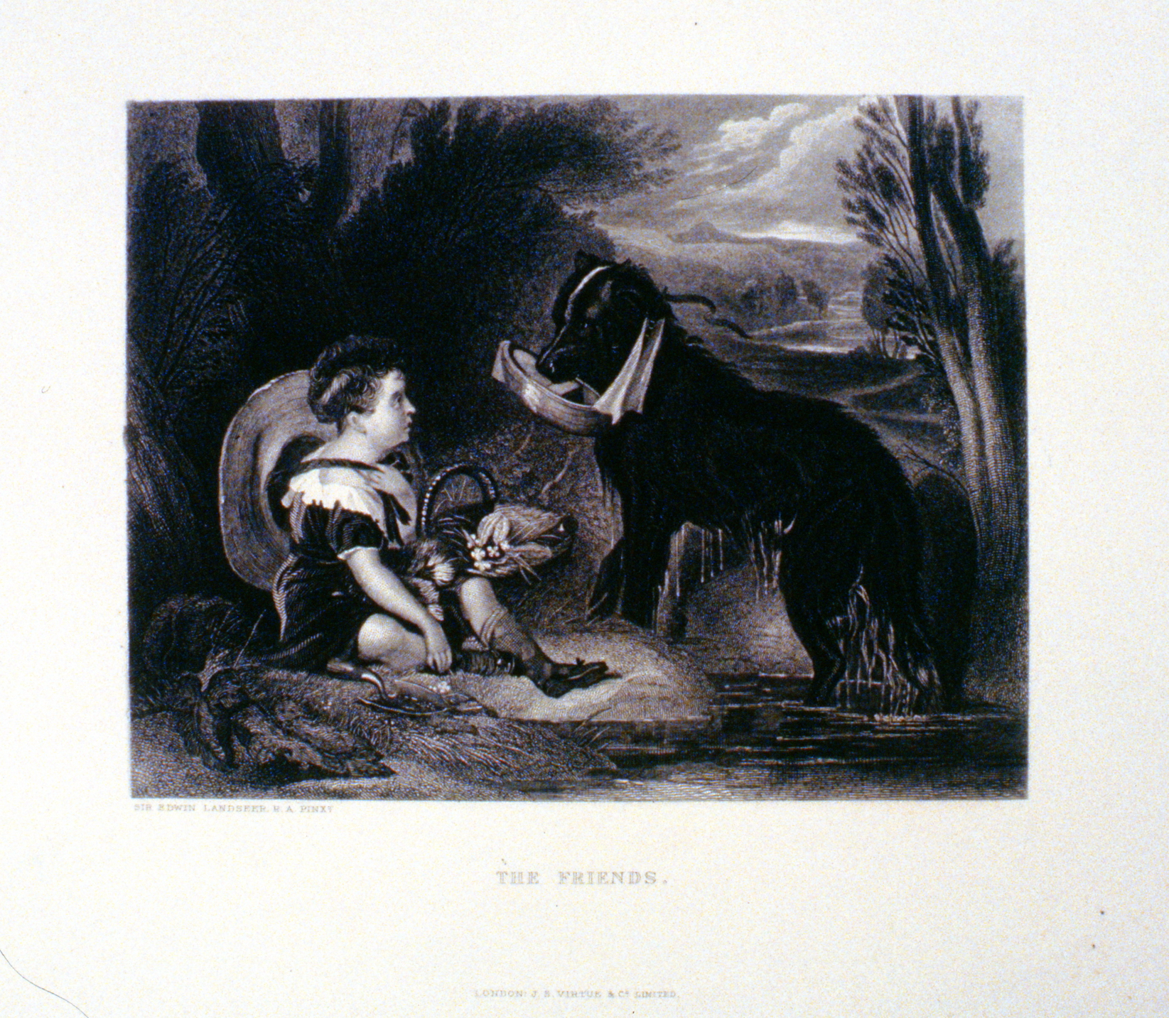 The Friends , c. late 19th Century, artist unknown, steel engraving, 15 cm x 19.2 cm, 1996.08.39, gift of Yvonne Adams