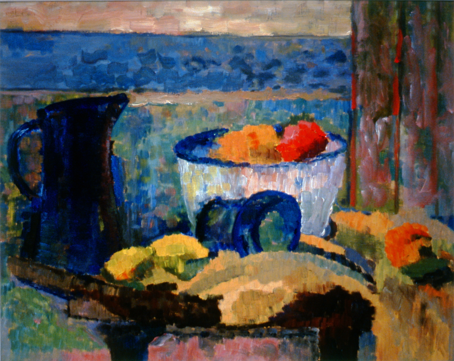"Untitled , c. 1991, Marjorie Croil, oil painting on paper, 40"" x 51"",2000.01.01, gift of Doug Clark"