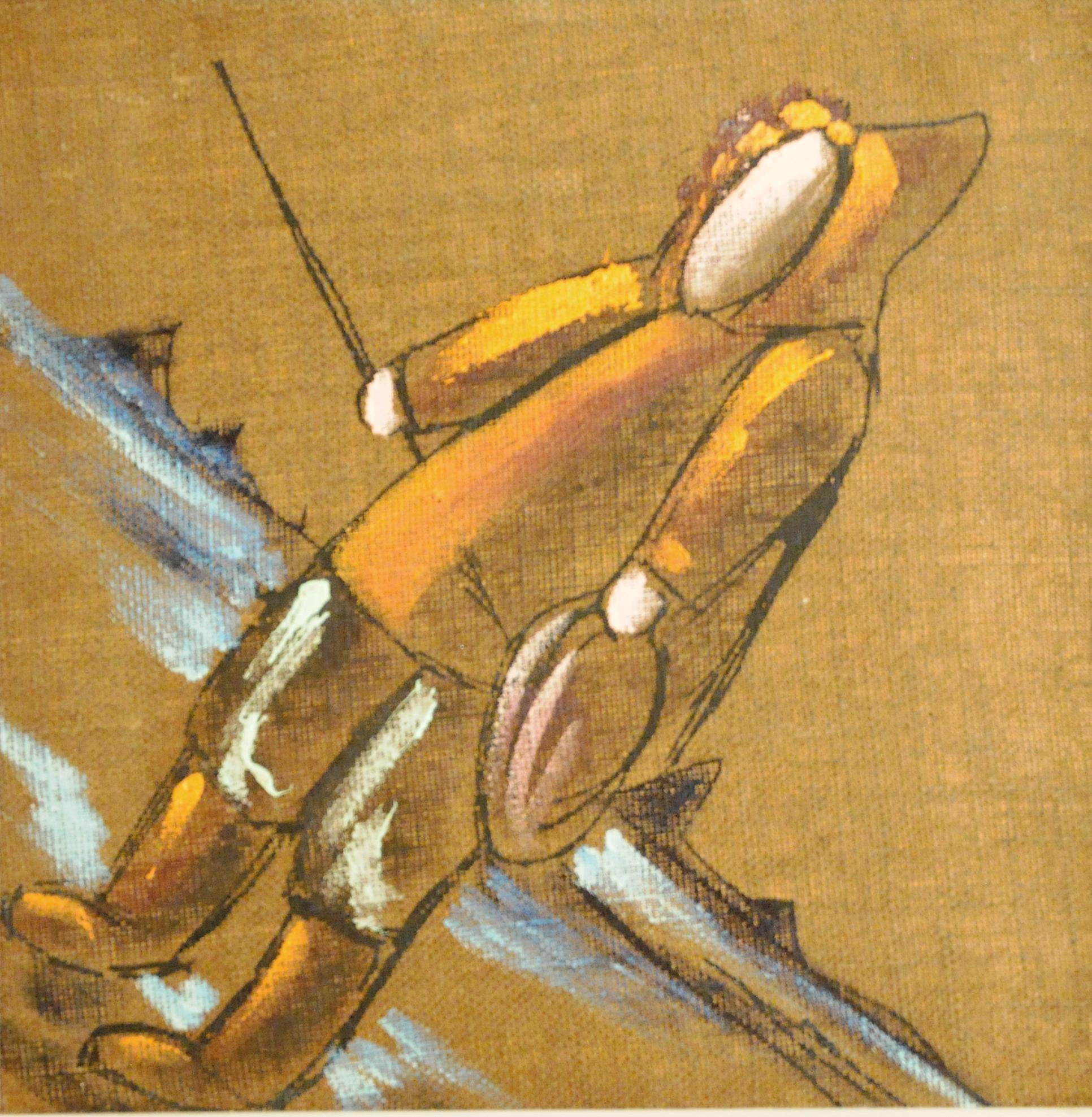 Untitled (Inuit Figure), c. 1960s, Levente Kovàcs, acrylic on canvas