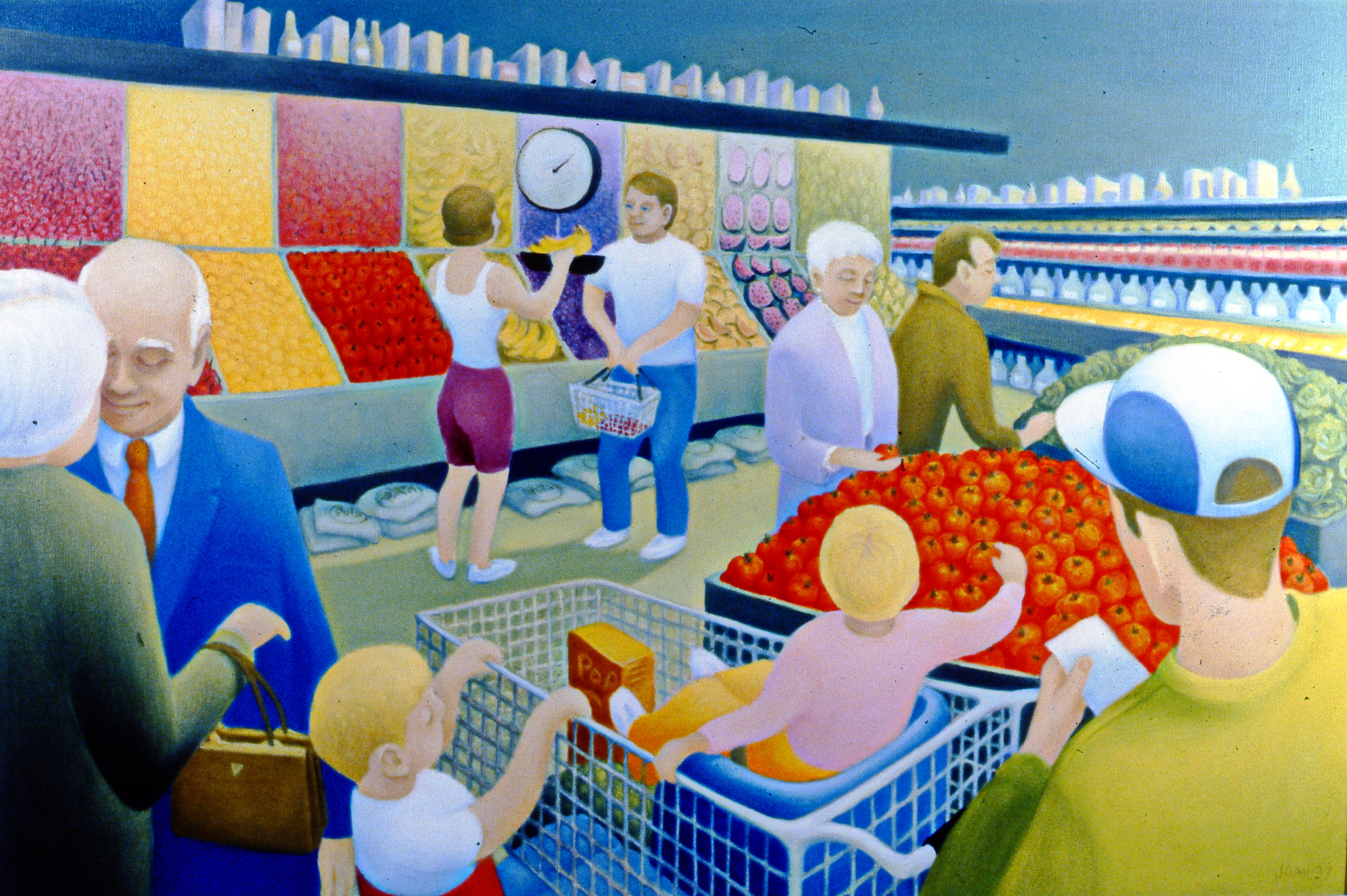 """Yes Dear, 1997, Joan MacGregor, oil painting, 24"""" x 36"""", 2001.01.01, gift of the artist"""