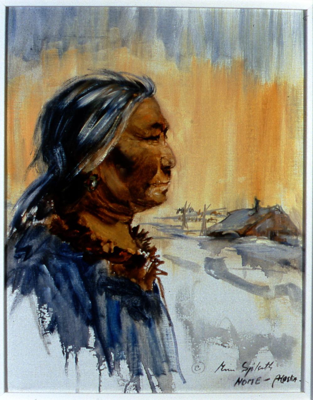 "Teresa,  1982,  Minn Sjølseth, oil on canvas, 13 1/2"" x 10 1/2"", 2000.04.01, gift of Al and Laila Campbell"