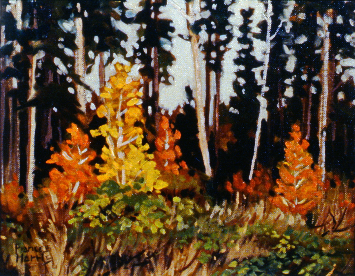 """Untitled , n.d., Frances Harris, oil on canvas, 10.5"""" x 13.5"""", 1981.04.02. Gift of the artist."""