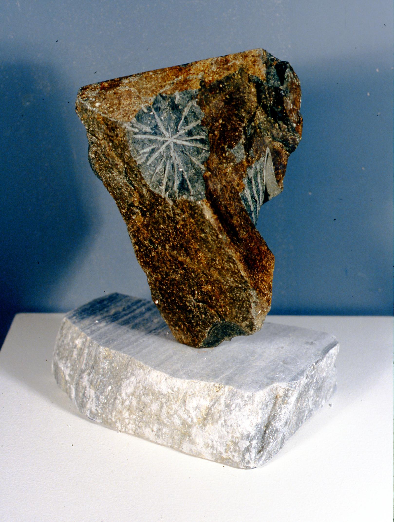 Uncarved Bock: Okanagan (view 2),2002, Jon Barlow Hudson, rock sculpture, 35 cm tall, 2002.06.01, gift of the artist