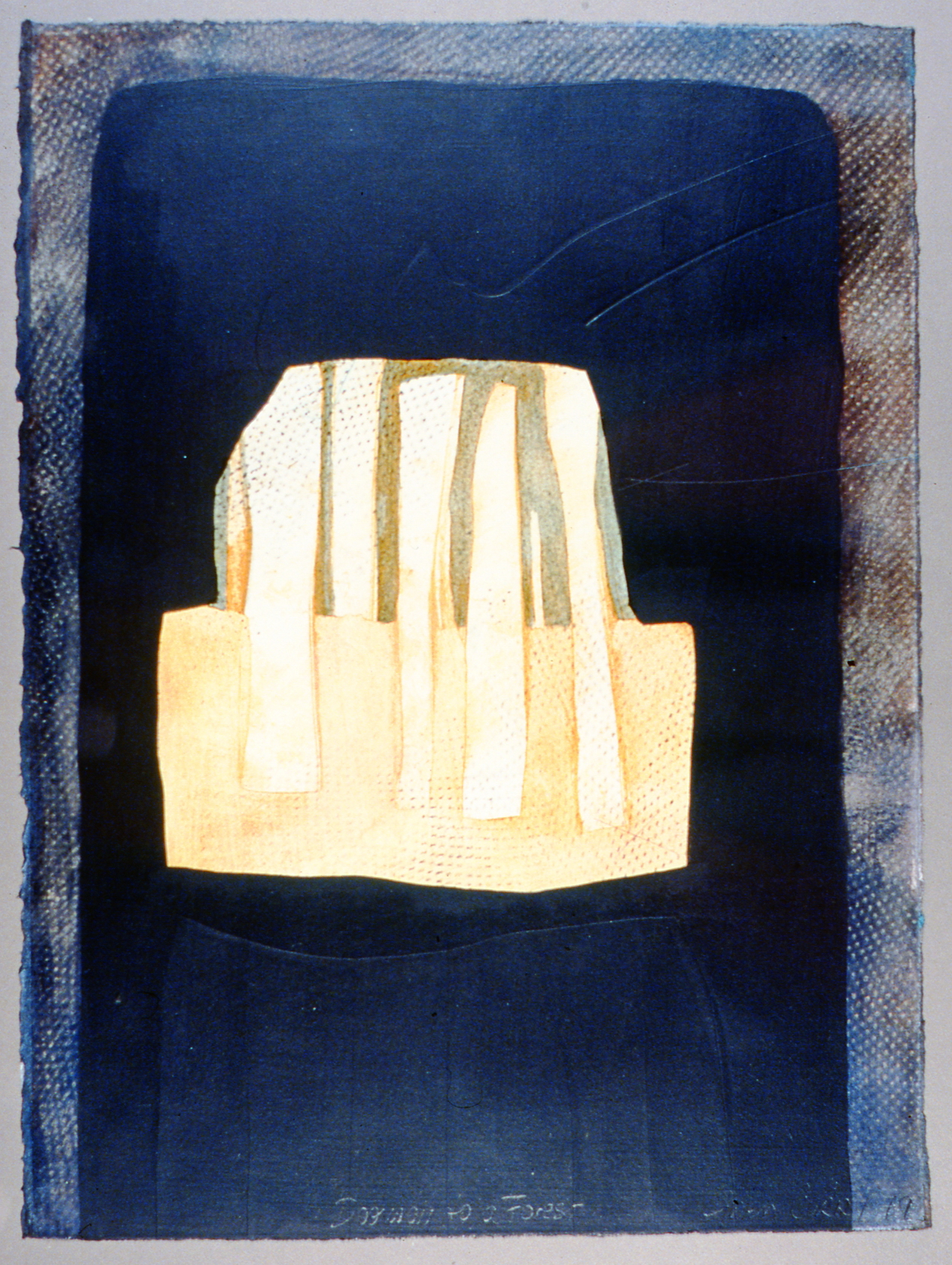 Doorway to a Forest , 1979, Gwen Curry, acrylic on paper, 39 cm x 29 cm, 2003.03.03, gift of Mrs. Rosita Tovell