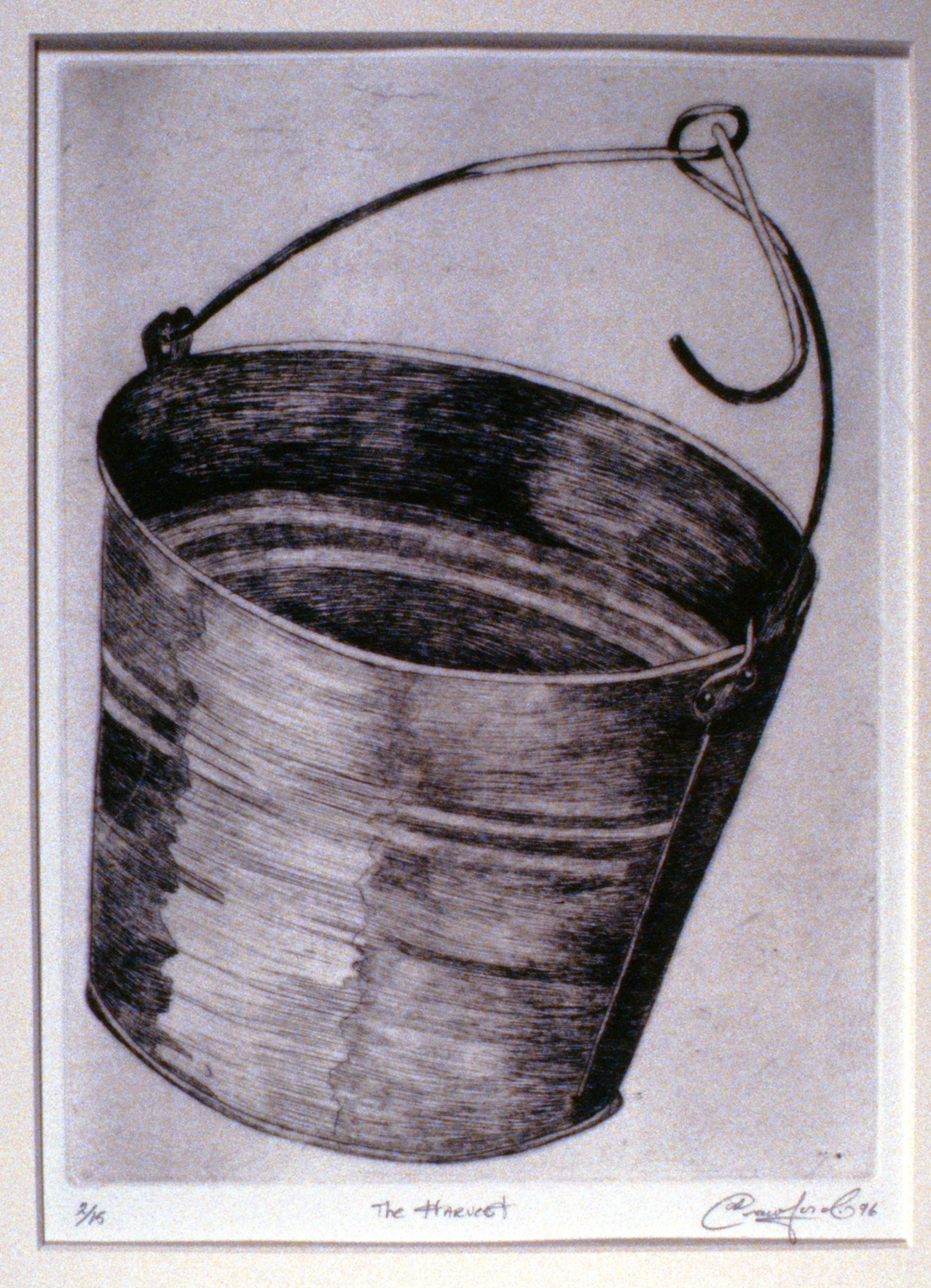 The Harvest,  1996, Jan Crawford, etching, edition 2/15, 27.5 x 20 cm, 1997.03.03. Gift of the artist.