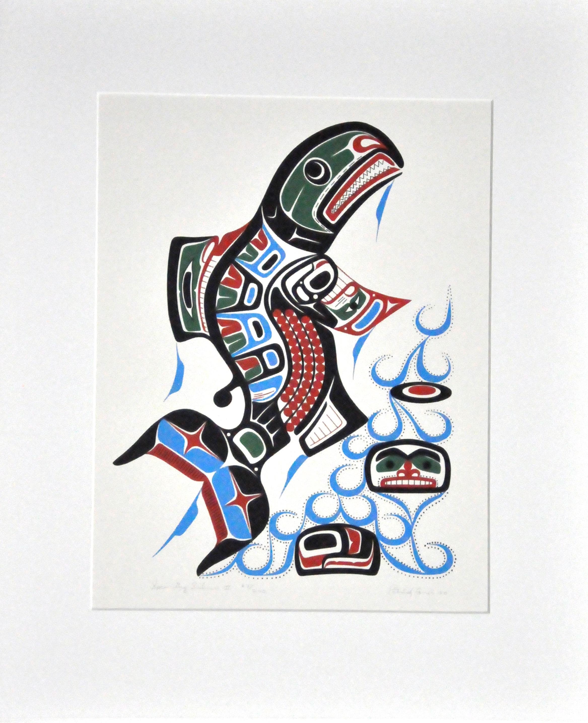 "Spawning Salmon II , 1980, Patrick Amos, serigraph, edition 23/200, 19"" x 14 1/2"", 2008.03.03"