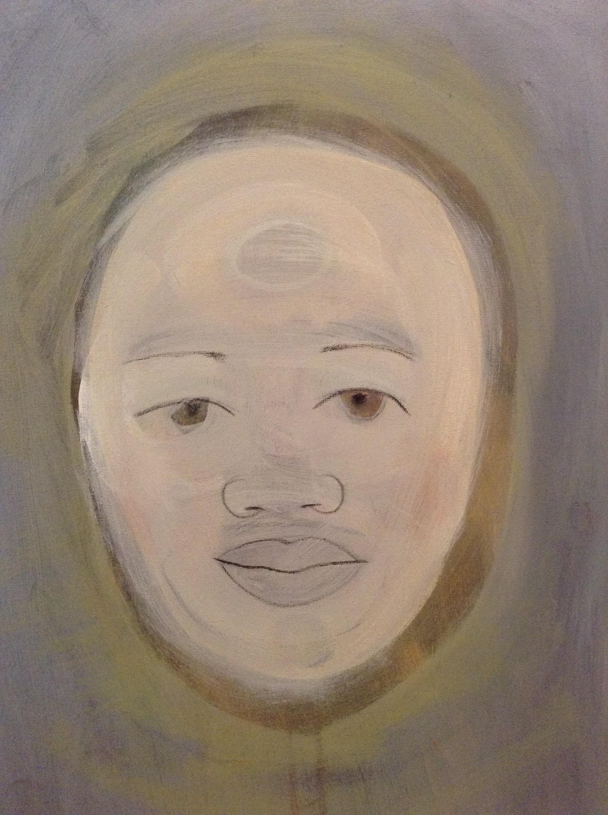 Claire, James Diamond, mixed media on canvas, 2017