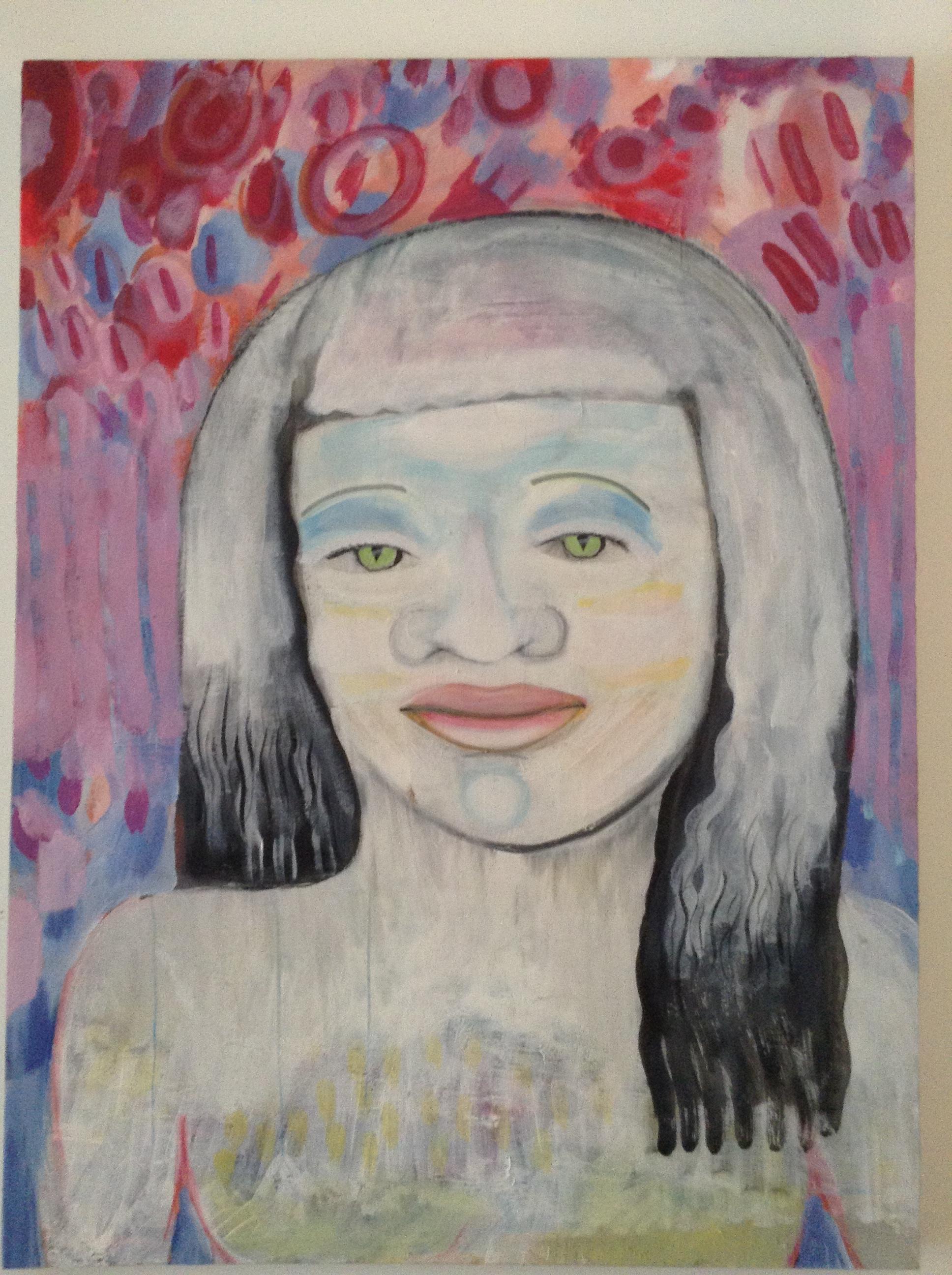 Zara, James Diamond, mixed media on canvas,2017