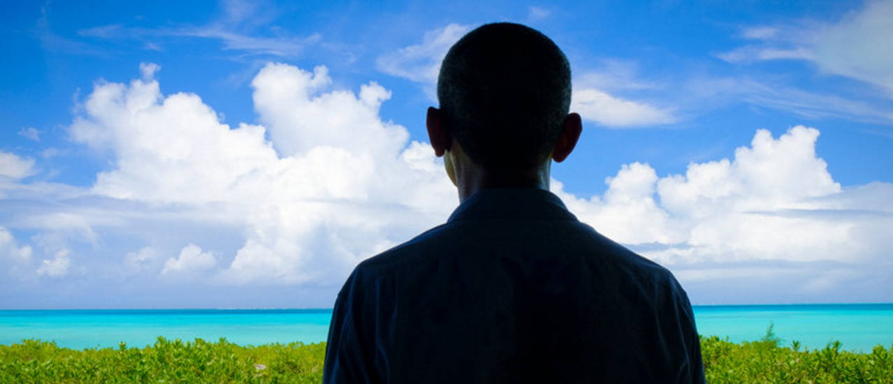 In an exclusive interview on his legacy, President Obama speaks to The Times's Mark Landler and Coral Davenport on climate change while visiting Marine Corps Base Hawaii.     By A.J. CHAVAR, BEN LAFFIN, MARK LANDLER and CORAL DAVENPORT on Publish DateSeptember 8, 2016.  Photo by A.J. Chavar/The New York Times.