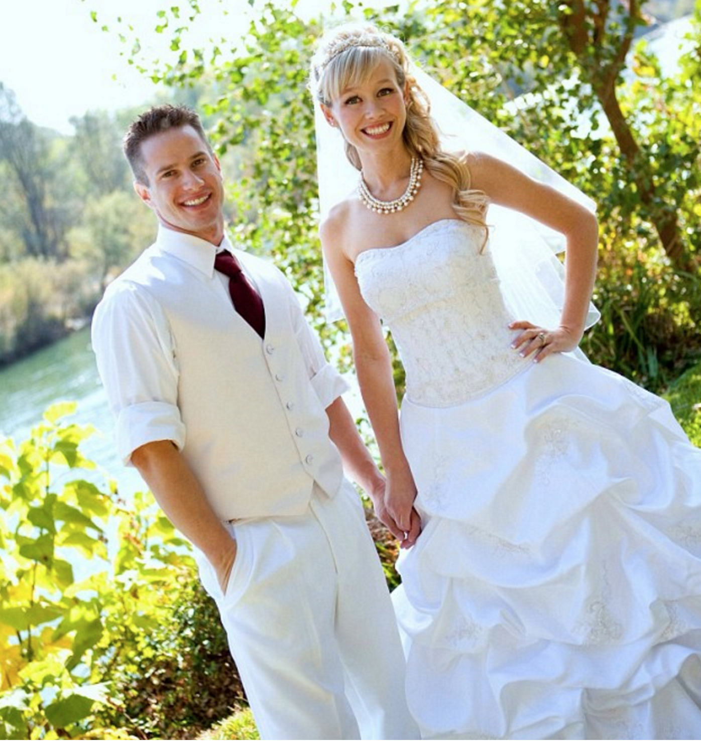 Sherri Papini's husband Keith has broken his silence about his wife's physical and mental state after her 22 days in captivity (the couple above in 2012 on their wedding day)