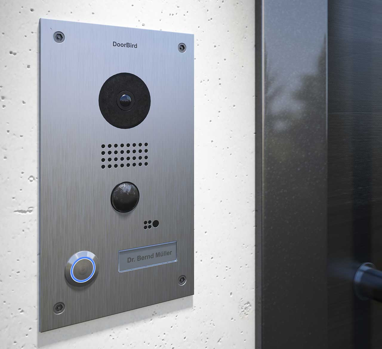 Quality for a safer home - DoorBird is manufactured in Germany. A guarantee for the highest levels of quality and production standards. Temperature-resistant from -20° to +40° C, rain water protection in accordance with IP65 industry standard, a stylish product design with high quality stainless steel models.