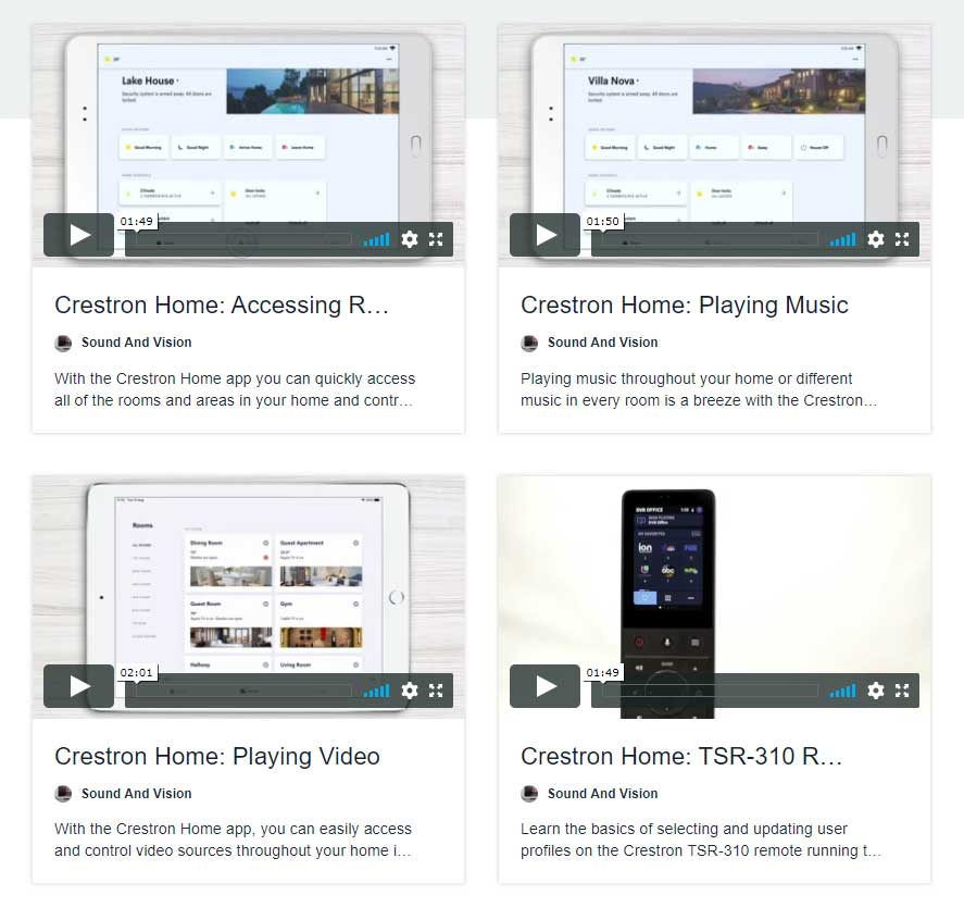 Crestron Home App How-to Videos