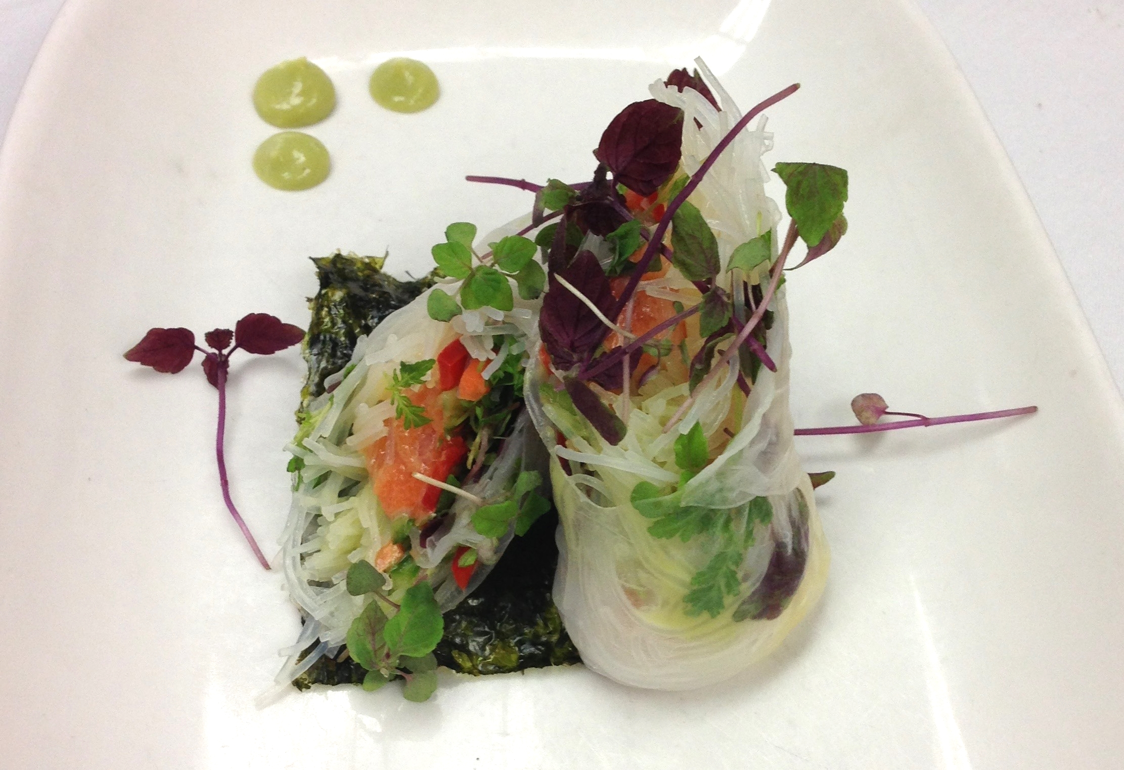 Spring Rolls With Micro Greens