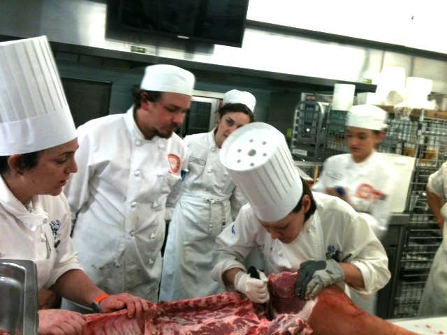 Teaching butchery skills