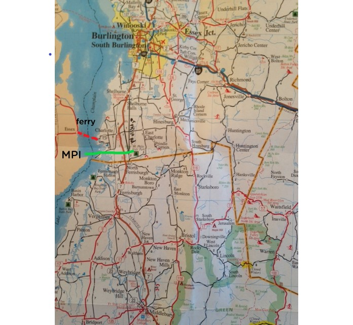 An easy 25 minute drive to either Burlington or Middlebury
