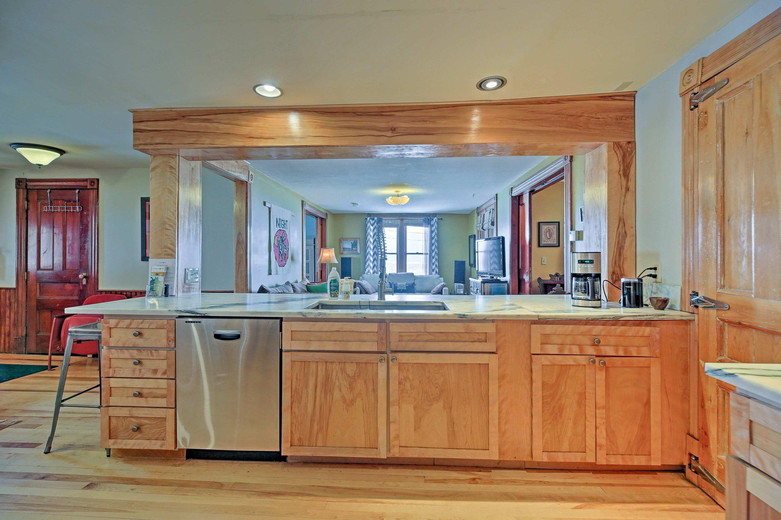 West Wing kitchen - Locally sourced yellow birch trim