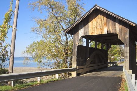 Holmes Covered Bridge, Charlotte beach
