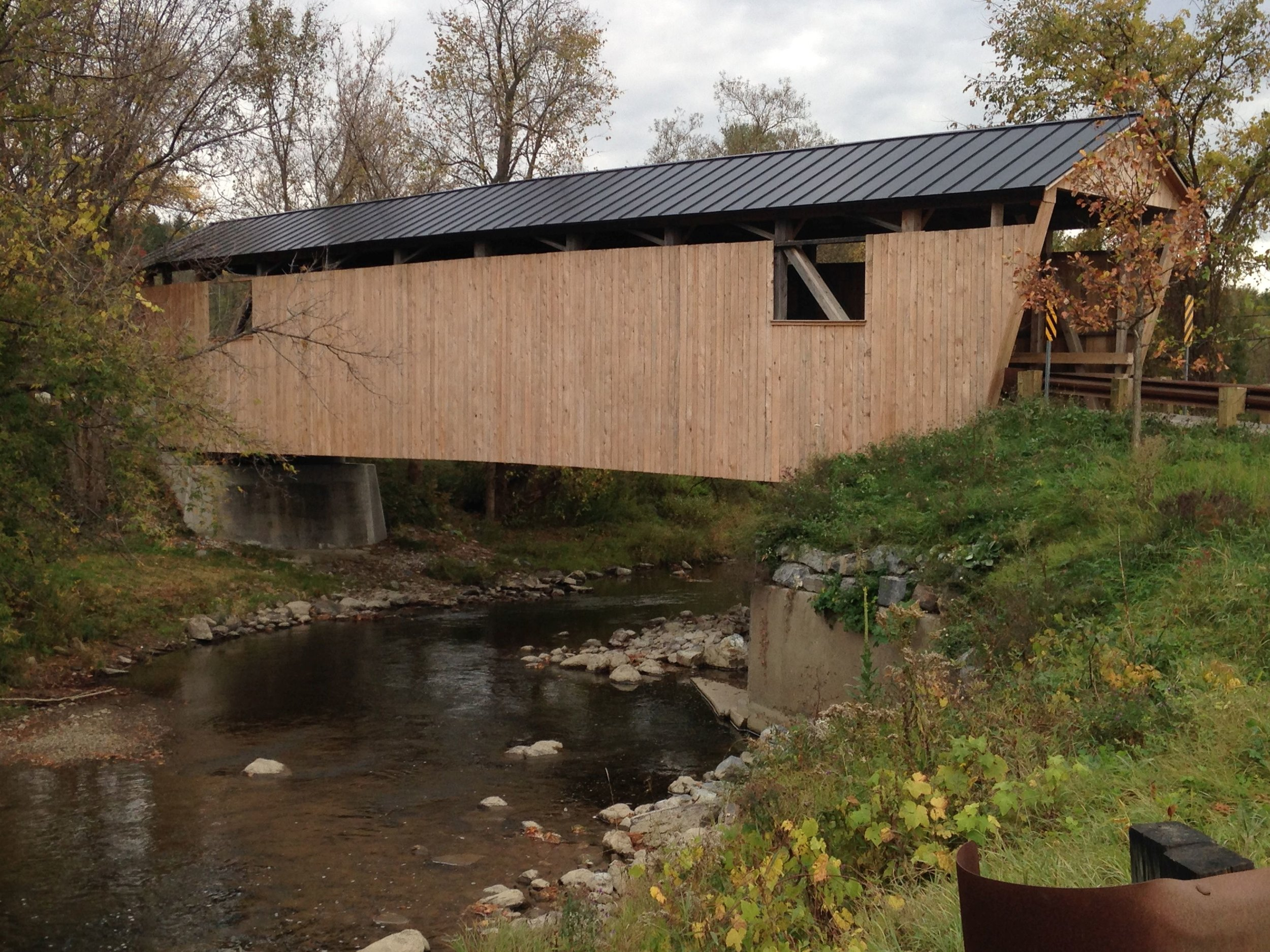 Quinlan covered bridge, Lewis Creek, Charlotte