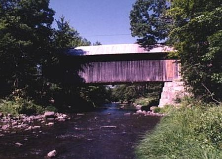 Sequin Covered Bridge, Charlotte, Vermont, Lewis Creek