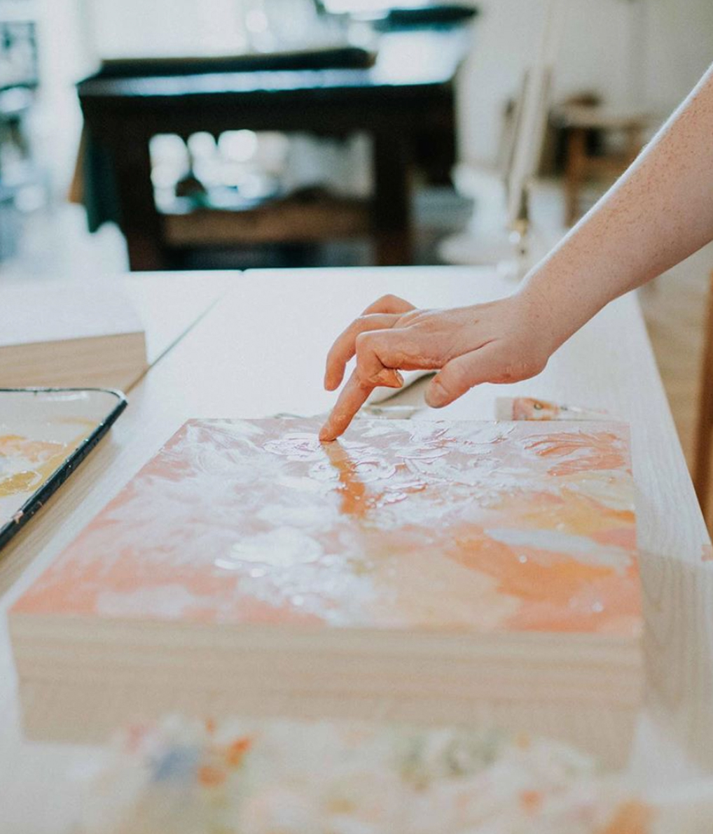 Christina Scheppmann Thomas painting Persika Design Co
