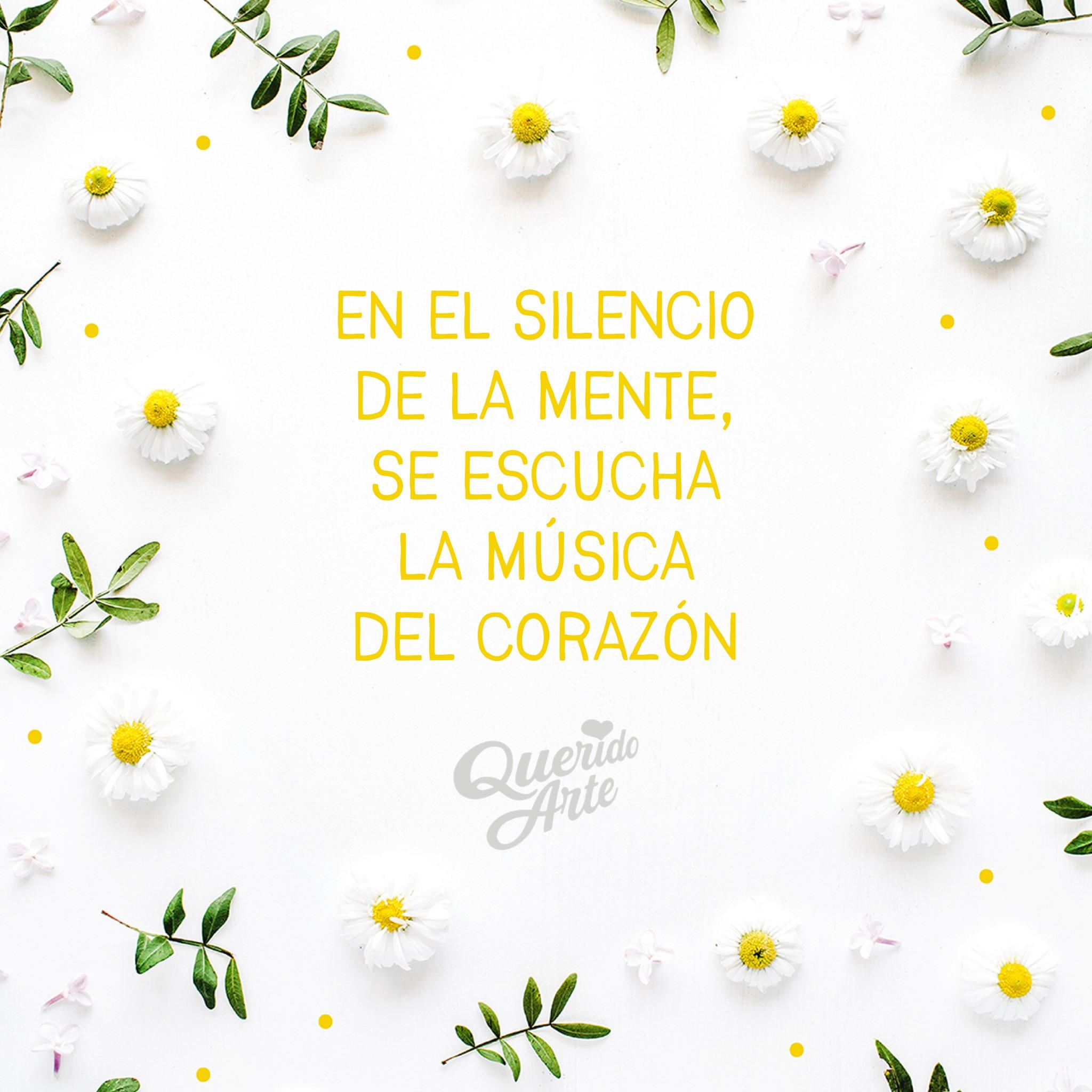 •• En el silencio de la mente, se escucha la música del corazón •• ¡Cierra los ojos y disfrútala! 💛🧠🌼🎵 #QueridoArte