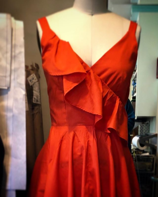 Second dress for West Side Story done today. #meganselbysews #westsidestory #santabarbarahighschool