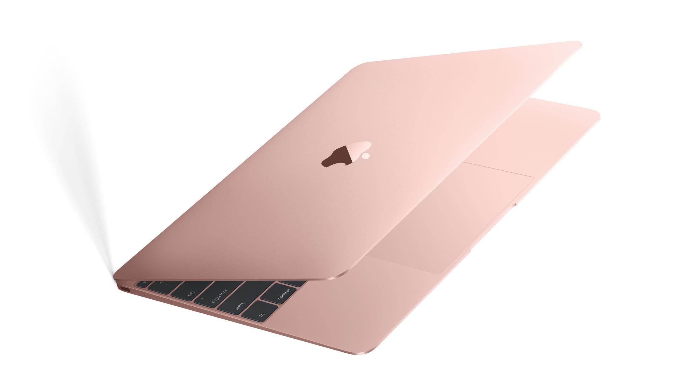 Rose Gold Macbook   https://www.apple.com/shop/buy-mac/macbook/rose-gold-256gb