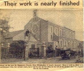 st matthews church newspaper clipping