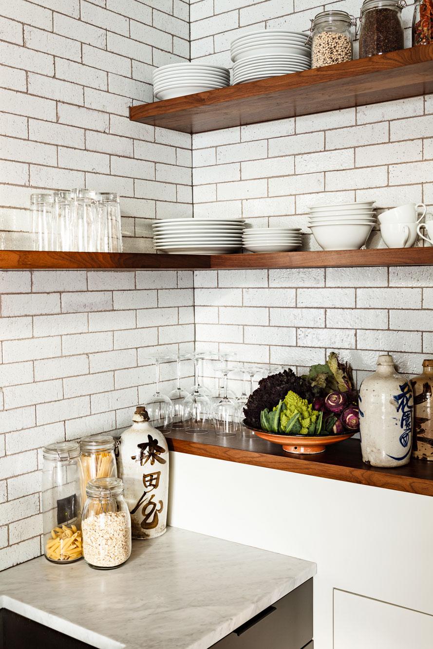 Kitchen shelves detail