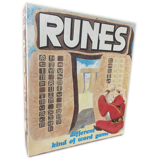 "Runes box cover 1981 - Eon Products Inc   Selected: Games 100 ""Best Games -word games"" 1982 Games Magazine"