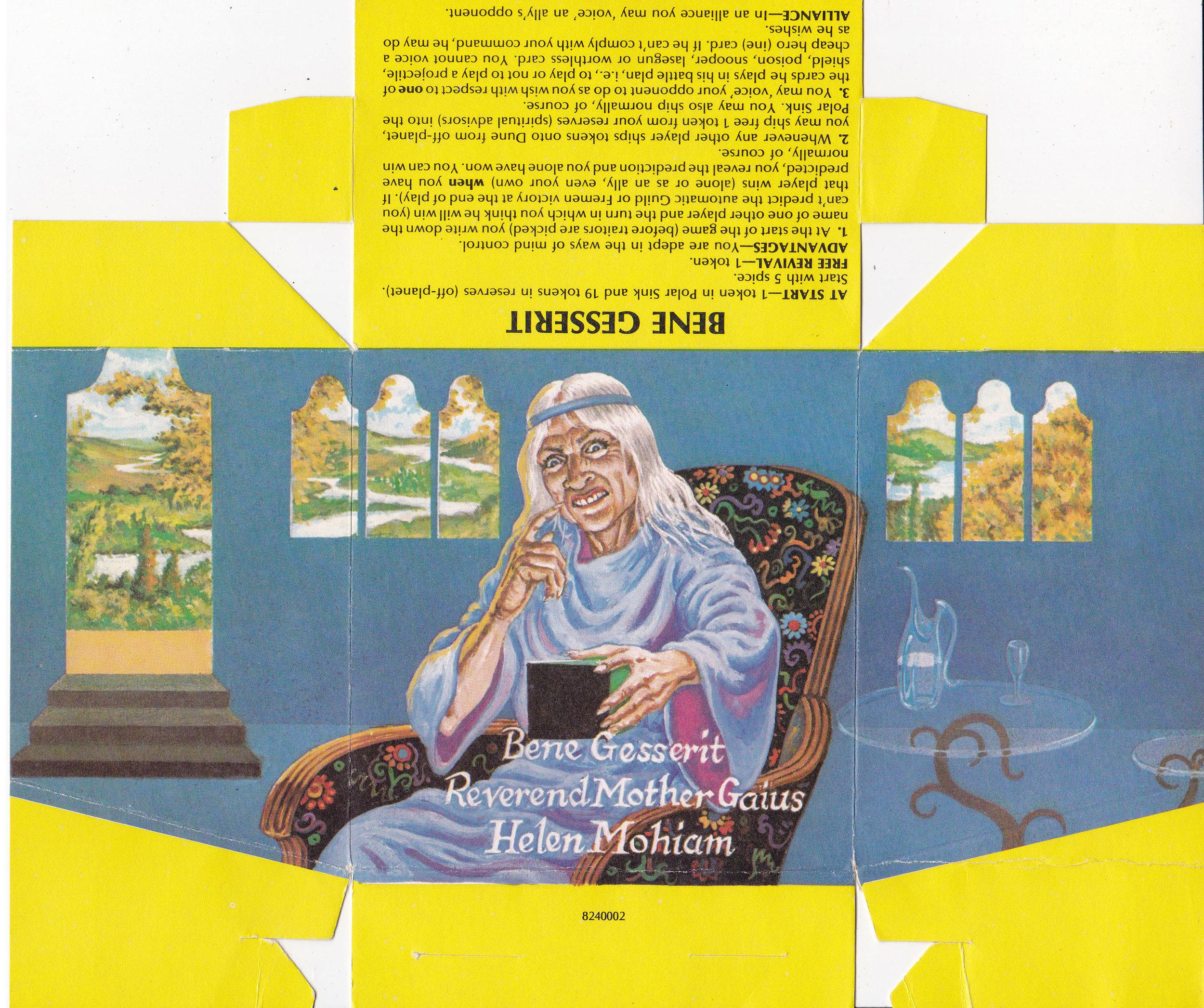 Bene Gesserit: Reverend Mother Gaius Helen Mohiam