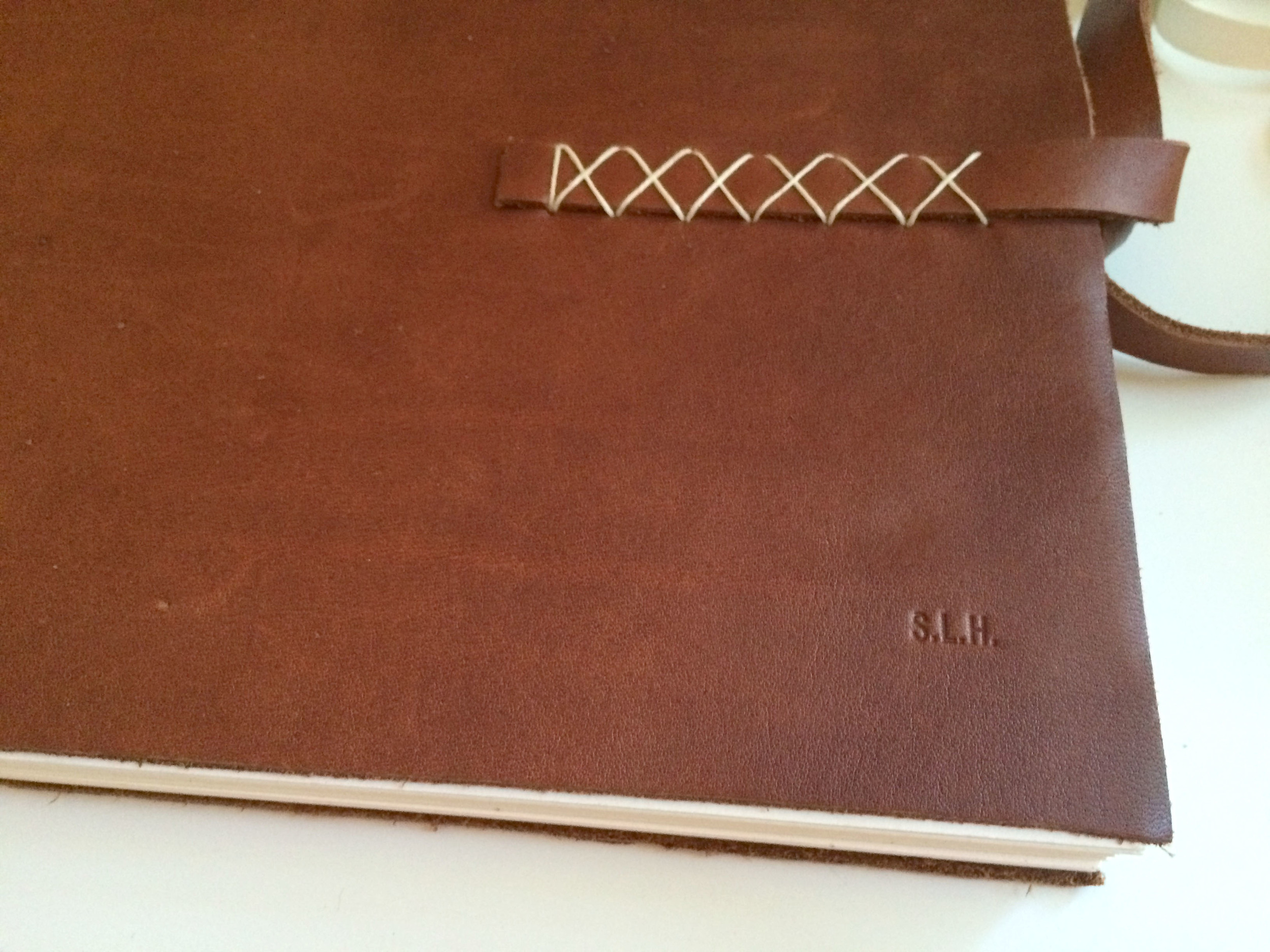 Leather Sketchbook_detail with initials.jpg