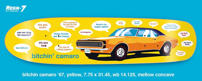 Enjoi Skateboards Peepshow Bitching Camaro Yellow