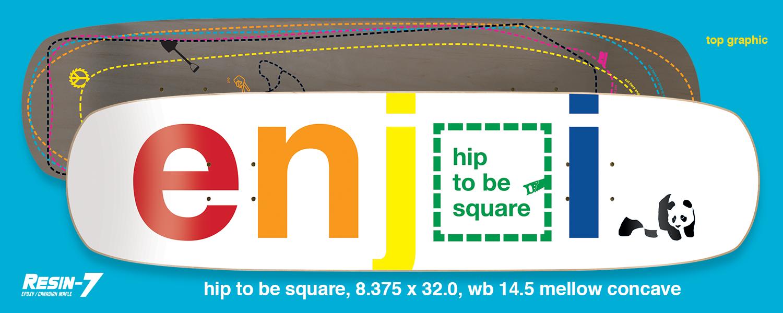 Enjoi Skateboards Peepshow Hip To Be Square