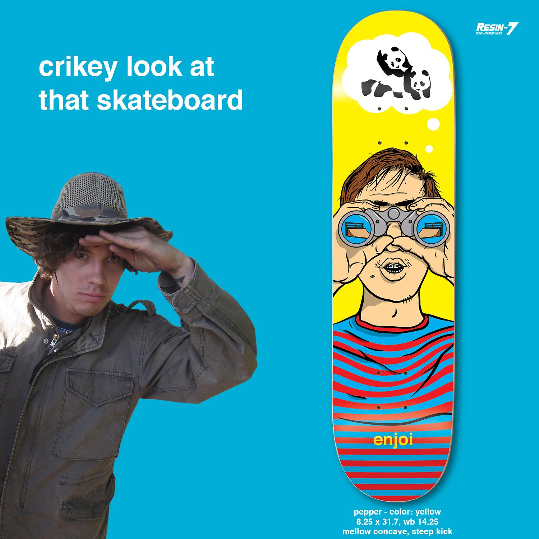 Enjoi Skateboards Peepshow Pepper