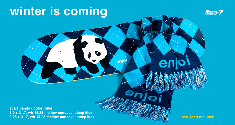 Enjoi Skateboards Peepshow Scarf Panda
