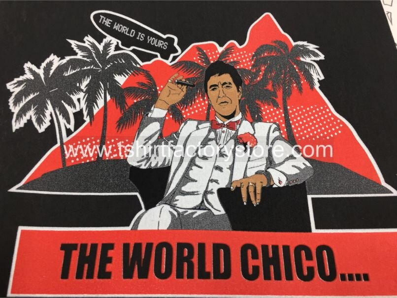 Scarface T Shirt Design World Chico Tony Montana T Shirt Factory Shop Printed T Shirts Sweatshirts And Hoodies