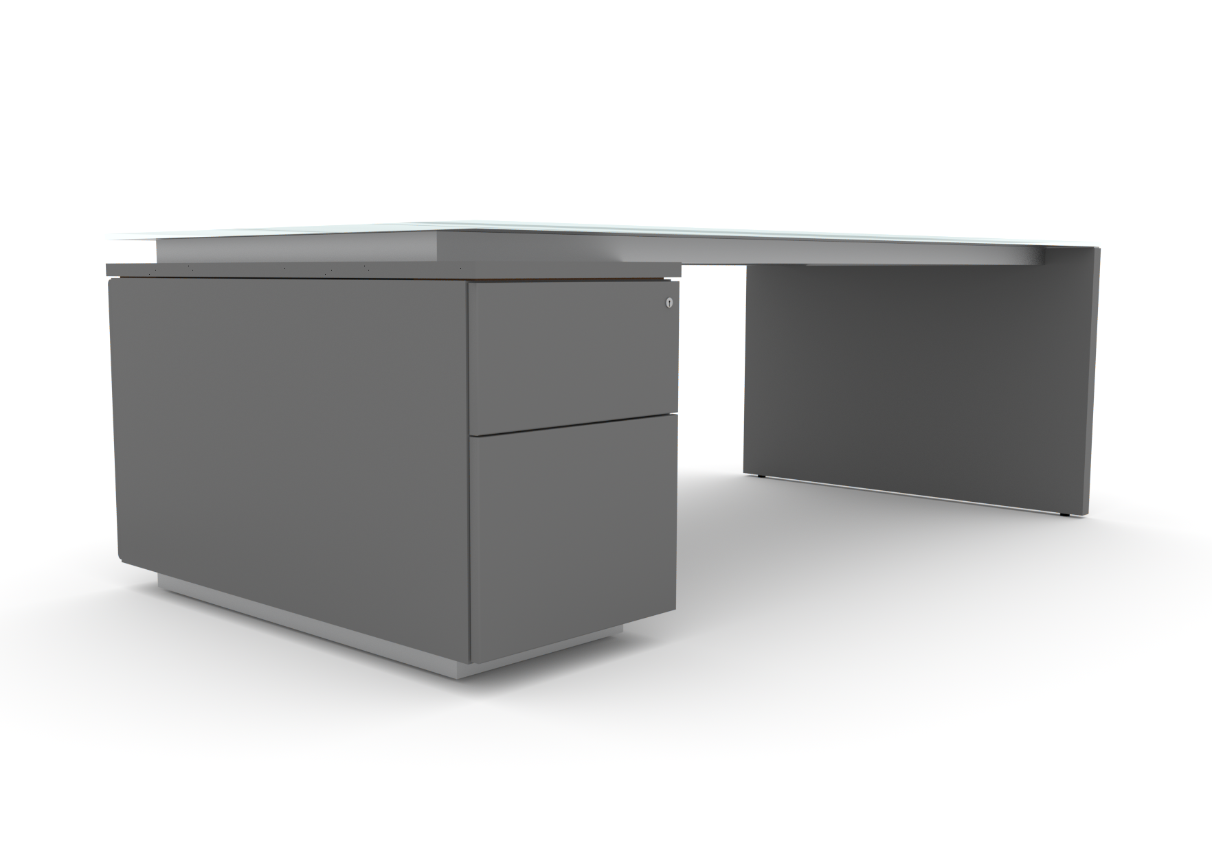 BRAND. single pedestal desk